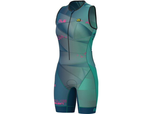 Alé Cycling Triathlon Hawaii Combinaison SL Unitard Femme, emerald